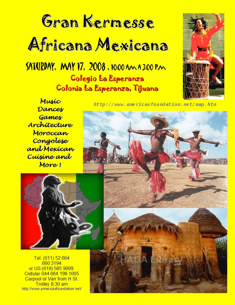 Flyer       for Africa Mexico Kermesse